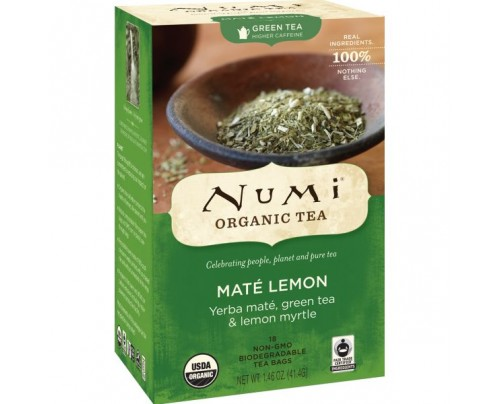 Numi Organic Tea Mate Lemon Green Tea 18 Tea Bags
