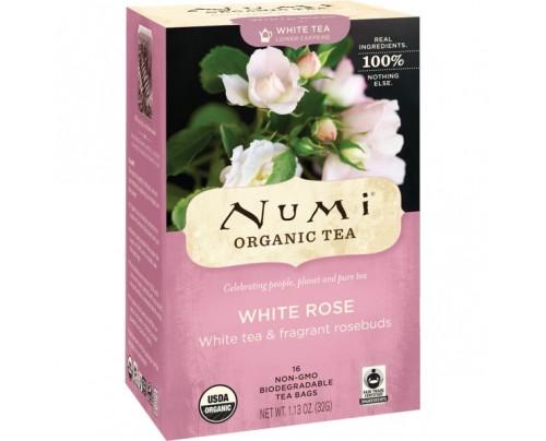 Numi Organic Tea White Rose Tea 16 Tea Bags