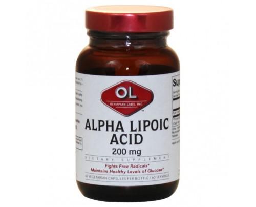 Olympian Labs Alpha Lipoic Acid 200mg 60 Capsules