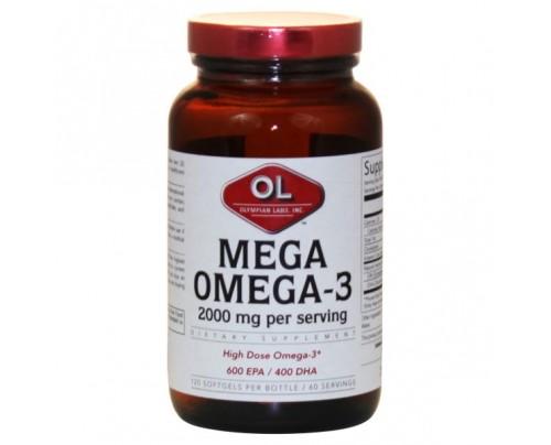 Olympian Labs Mega Omega 3 Fish Oils 1,000mg (300 EPA 200 DHA) 120 Softgels