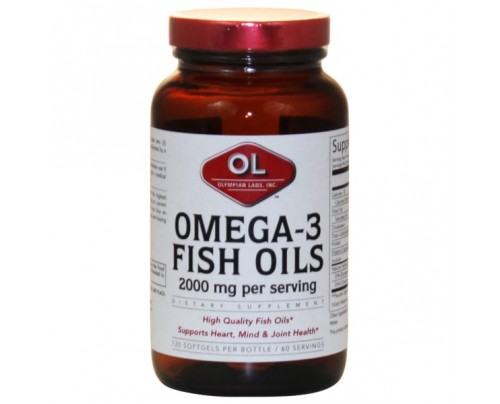 Olympian Labs Omega 3 Fish Oils 1,000mg (180 EPA 120 DHA) 120 Softgels