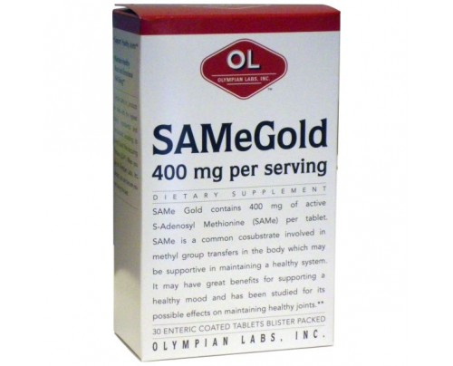 Olympian Labs SAMe Gold S-Adenosyl Methionine 30 Tablets