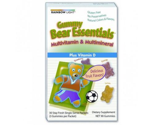 Rainbow Light Gummy Bear Essentials Multivitamin & Multimineral 30 Packets
