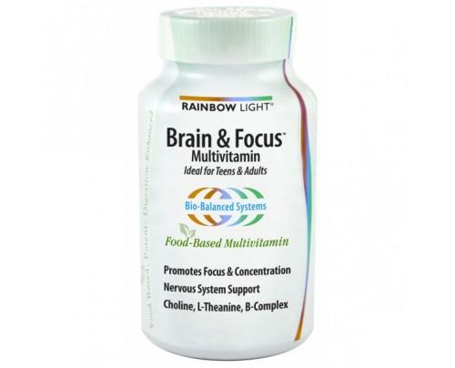 Rainbow Light Brain & Focus Multivitamin 90 Tablets
