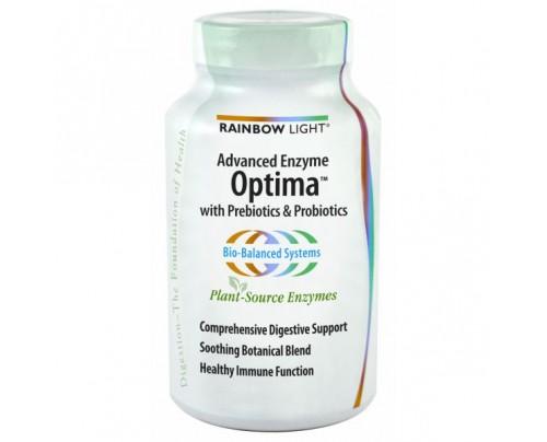 Rainbow Light Advanced Enzyme Optima with Prebiotics and Probiotics 90 Capsules