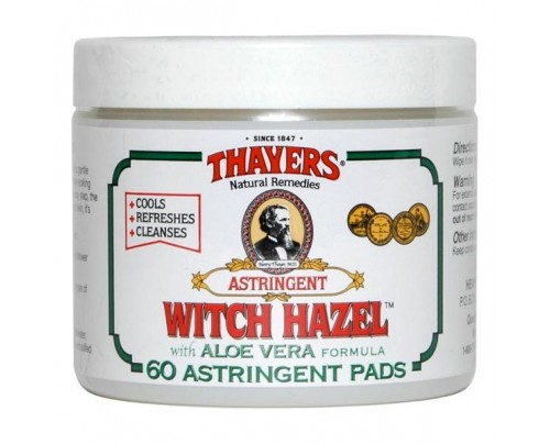 Thayers Witch Hazel Original with Aloe Vera Astringent Pads 60 Pads