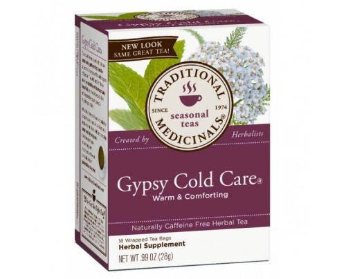 Traditional Medicinals Gypsy Cold Care Tea 95% Organic 16 Teabags