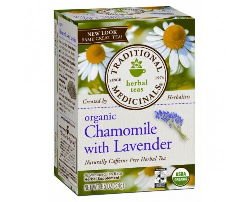 Traditional Medicinals Organic Chamomile with Lavender Tea 16 Teabags