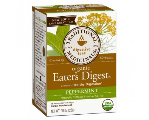 Traditional Medicinals Organic Eater's Digest Peppermint Tea 16 Teabags