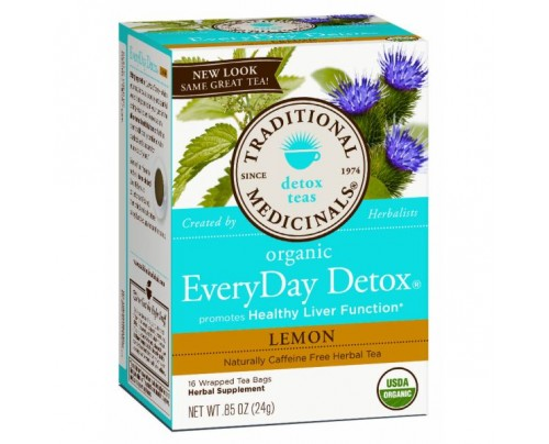 Traditional Medicinals Organic EveryDay Detox Lemon Tea 16 Teabags