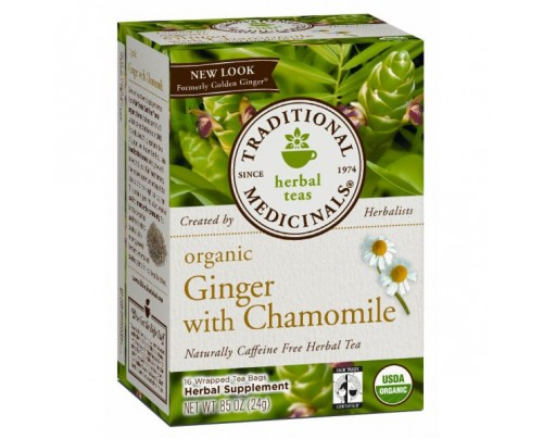 Traditional Medicinals Organic Ginger with Chamomile Tea 16 Teabags