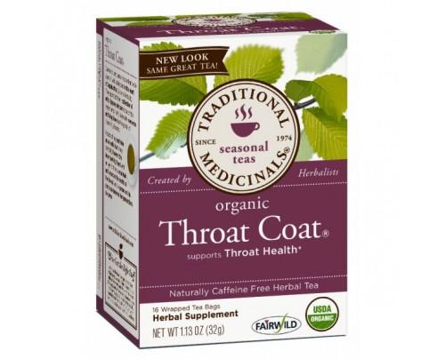 Traditional Medicinals Organic Throat Coat Tea 16 Teabags
