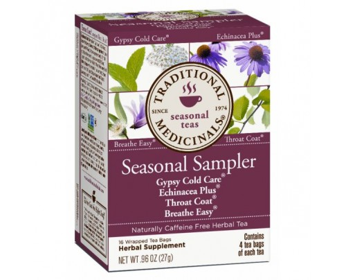 Traditional Medicinals Seasonal Sampler Tea 16 Teabags