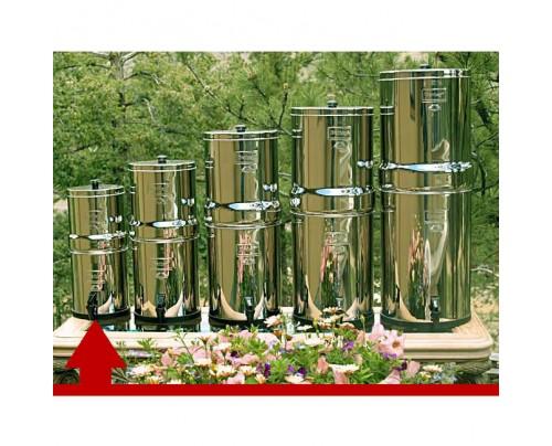 New Millennium Concepts Travel Berkey 1.5 Gal. Stainless Steel Water Purifier with 2 Black Berkey elements