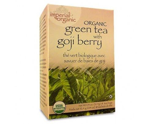 Uncle Lee's Imperial Organic Green Tea with Goji Berry Tea 18 Tea Bags