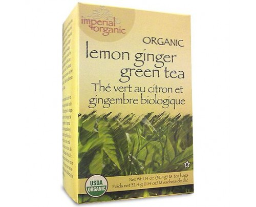 Uncle Lee's Imperial Organic Lemon Ginger Green Tea 18 Tea Bags
