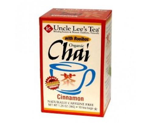 Uncle Lee's Organic Chai Cinnamon 18 Tea Bags