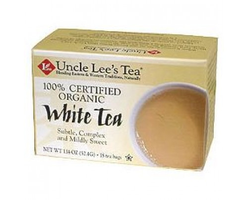 Uncle Lee's Organic White Tea 18 Tea Bags