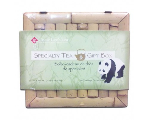 Uncle Lee's Specialty Tea Bamboo Gift Box 60 Tea Bags