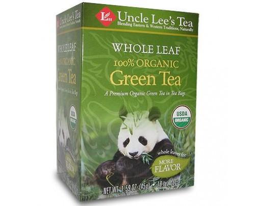 Uncle Lee's Whole Leaf Organic Green Tea 18 Tea Bags