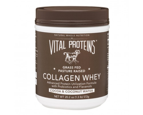 Vital Proteins Collagen Whey Grass-Fed Pasture-Raised Cocoa Coconut 20.2 oz.