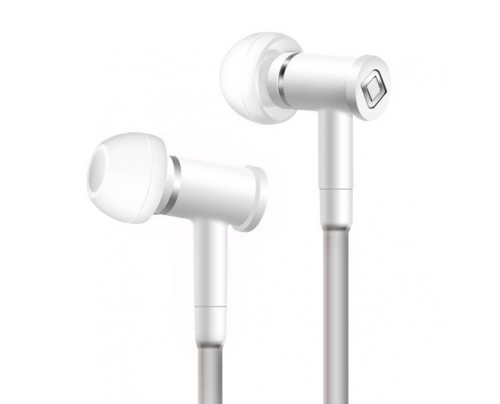Aircom Audio A1 Hands-Free Headset with Air Tube Technology Stereo Earbuds White