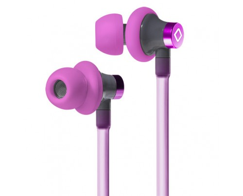 Aircom Audio A3 Active Hands-Free Headset Cell Phone Air Tube Stereo Earbuds Pink