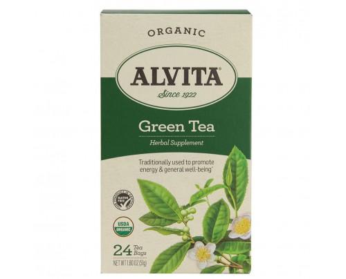 Alvita Teas Chinese Green Tea Plain Organic 24Tea Bags