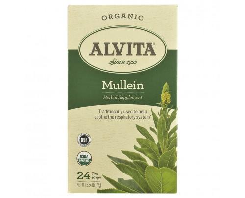 Alvita Organic Mullein Leaf Tea 24 Tea Bags