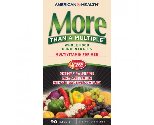 American Health More Than A Multiple For Men Whole Food Concentrate 90 Tablets
