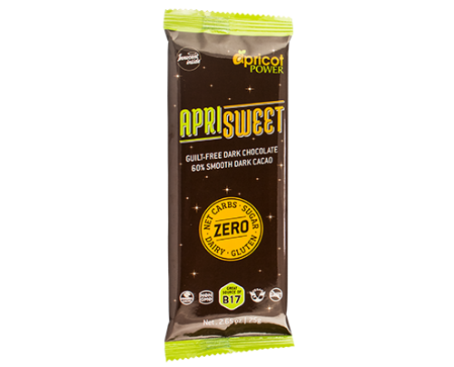 Apricot Power ApriSweet 60% Dark Chocolate Whole Food Snack Bar 2.65 oz