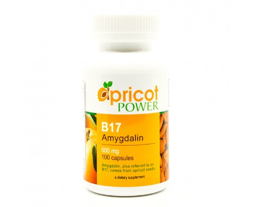 Apricot Power B-17 Amygdalin Apricot Kernel Seed Extract 500 mg 100 Capsules