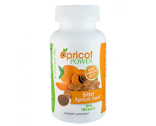 Apricot Power Bitter Apricot Seed Powder 500 mg 180 Capsules