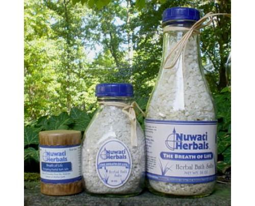 Nuwati Herbals Breath Of Life Bath Salt 4oz.