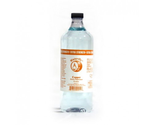 WaterOz Copper Ionic Mineral Water 4x Concentrate 200 ppm