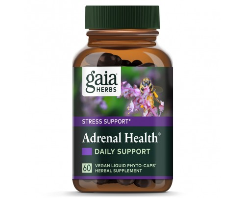 Gaia Herbs Adrenal Health Daily Support Vegan Liquid Phyto-Caps 60 Capsules