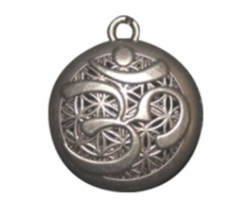 Earth Solutions OM Pewter Aromatherapy Jewelry Scent Chamber with Gift Tin