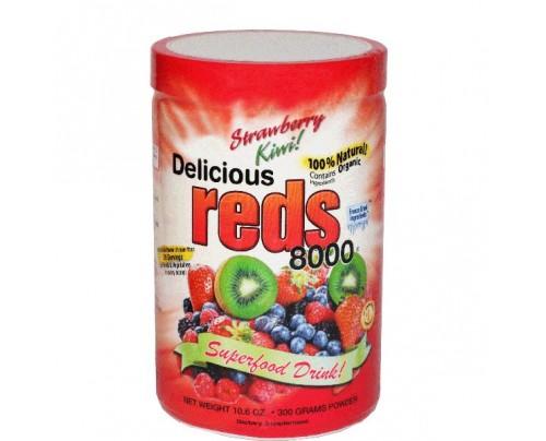 Greens World Delicious Reds 8000 Strawberry Kiwi Flavor 10.6oz.
