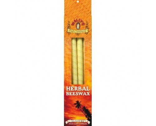 Wally's Natural Products Herbal Beeswax Ear Candles