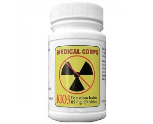 Medical Corps Potassium Iodate KIO3 85 mg 90 Tablets