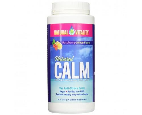 Natural Vitality Natural Calm Anti-Stress Drink Raspberry Lemon 16 oz.
