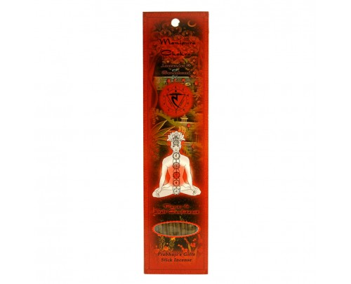 Prabhuji's Gifts Stick Incense Manipura Solar Plexus Chakra Power & Self-Confidence Lavender & Sandalwood 10 Sticks