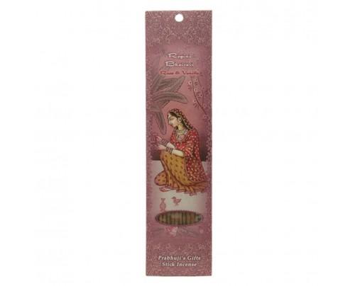 Prabhuji's Gifts Stick Incense Ragini Bhairavi Passion Rose & Vanilla 10 Sticks
