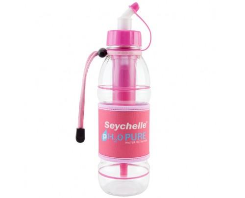 Seychelle pH2O PURWATER Alkaline Water Filter Sports Bottle Pink 20 fl. oz.