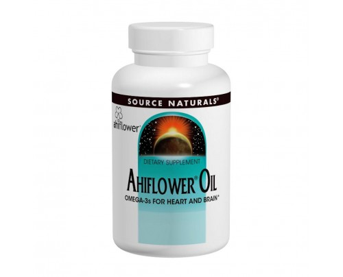 Source Naturals Ahiflower Oil 120 Vegetarian Softgels