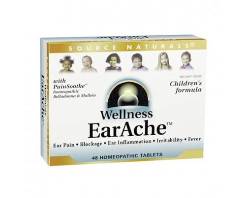Source Naturals Wellness Earache 48 Homeopathic Tablets