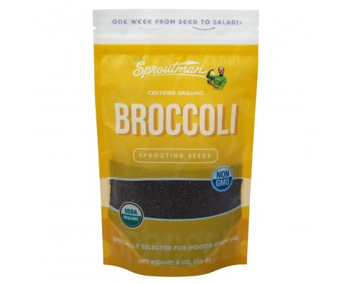 Sproutman Broccoli Organic Sprouting Seeds 4oz.