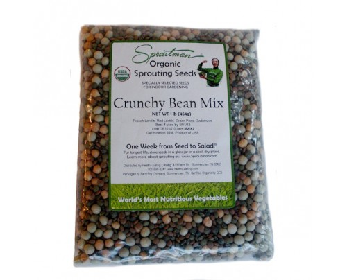 Sproutman Mung Bean Organic Sprouting Seeds 16oz.