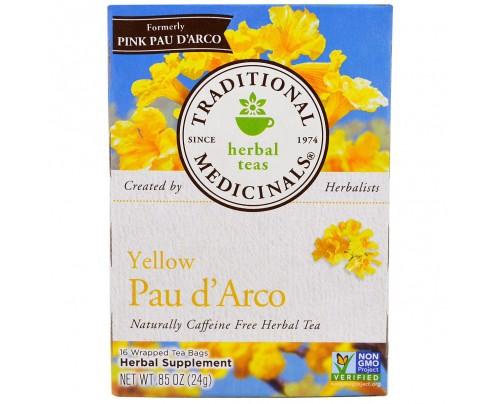 Traditional Medicinals Yellow Pau d'Arco Tea 16 Tea Bags
