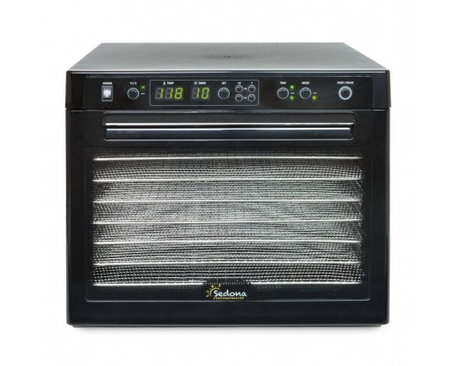 Tribest Sedona Classic Rawfood Dehydrator SD-S9000 Black with Stainless Trays Empty
